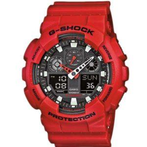 Casio G-Shock GA-100B-4AER rode horloge