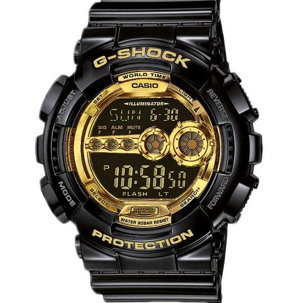 Casio G-Shock GD-100GB-1ER Garish Black horloge