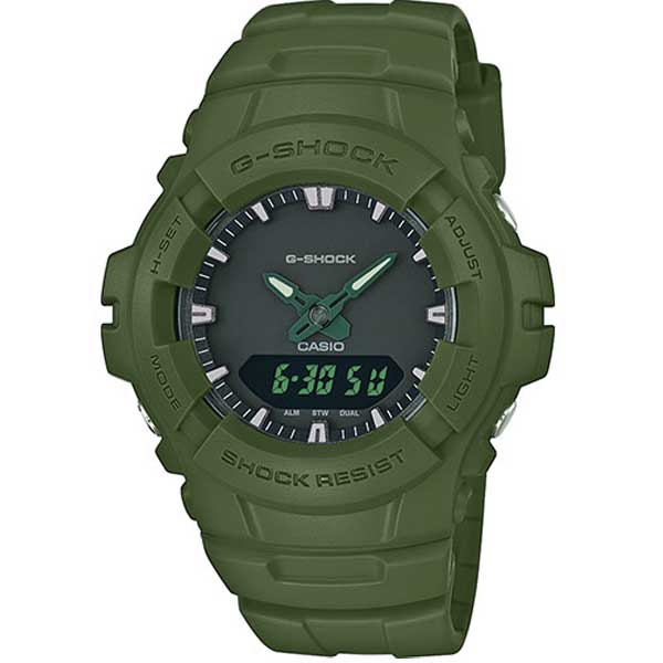 Casio G-Shock G-100CU-3AER Basic green horloge