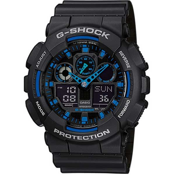 Casio G-Shock GA-100-1A2ER Active Blue horloge