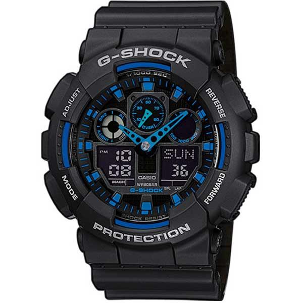 Casio G-Shock GA-100-1A2ER Active Blue horloge