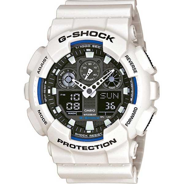 Casio G-Shock GA-100B-7AER Active white sport horloge