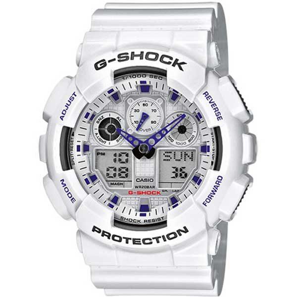 Casio G-Shock GA-100A-7AER Active white horloge
