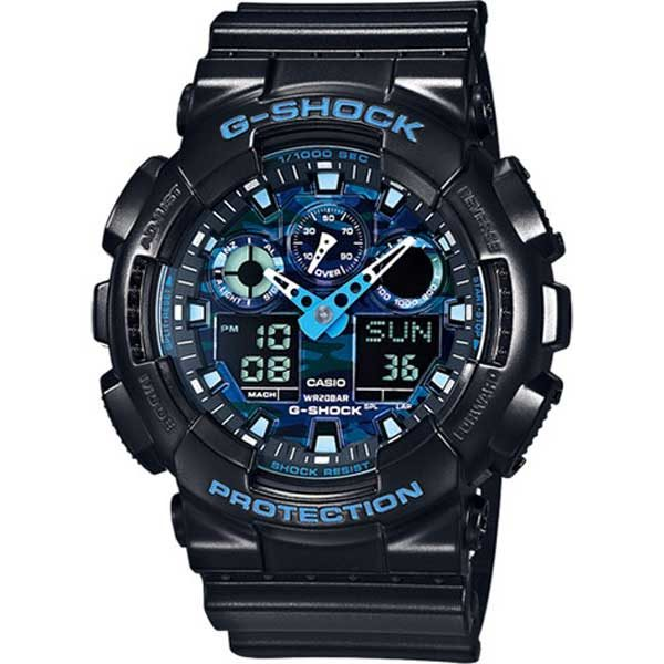 Casio G-Shock GA-100CB-1AER Cool Blue horloge