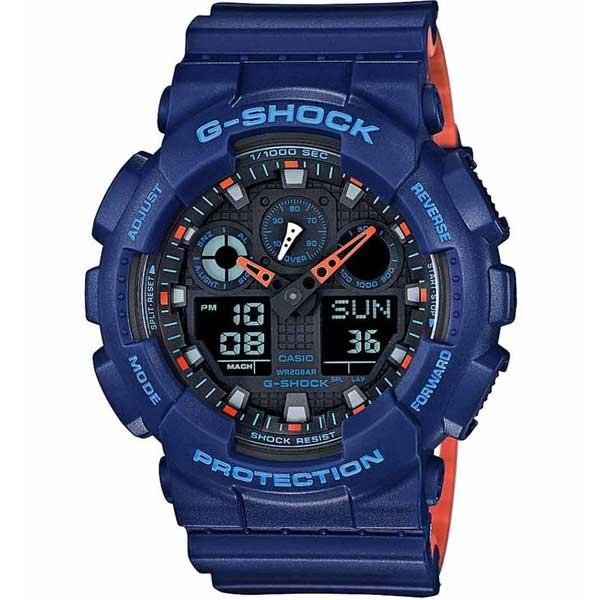 Casio G-Shock GA-100L-2AER Layered Blue horloge