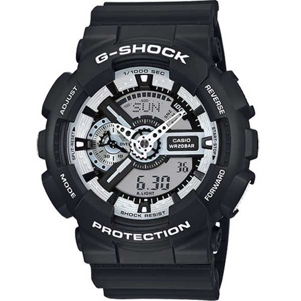 Casio G-Shock GA-110BW-1AER Black & White horloge