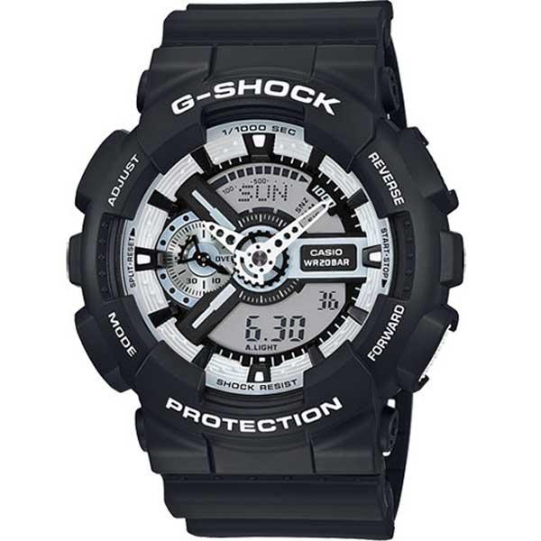 Casio G-Shock GA-110BW-1AER Black & White horloge