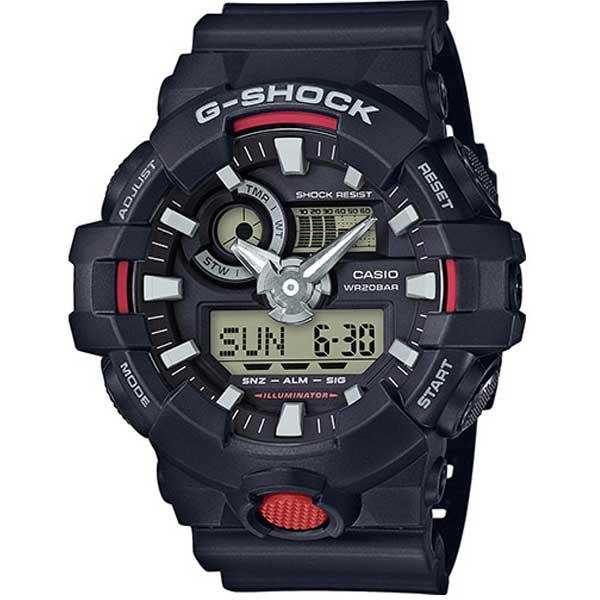 Casio G-Shock GA-700-1AER Chrono black horloge