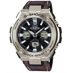 Casio G-Shock GST-W130L-1AER horloge - G-Steel leather horloge