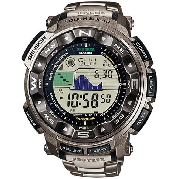 Casio Pro Trek PRW-3500Y-1ER Titanium solar horloge