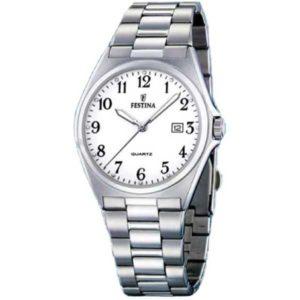 Festina F16374/1 klassiek horloge met datum - Officiële Festina dealer
