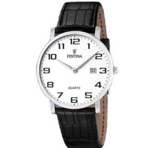 Festina F16476/1 klassiek horloge met datum - Officiële Festina dealer