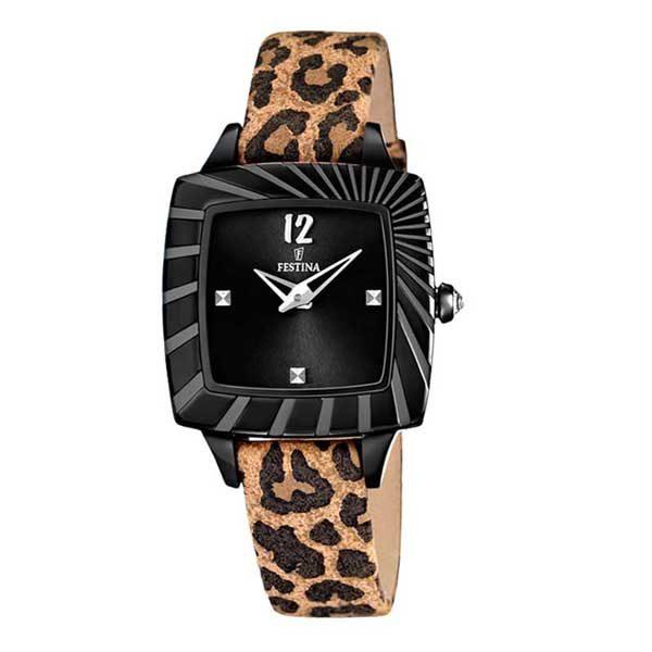 Festina F16651/3 luipaard horloge voor vrouwen - Officiële Festina dealer