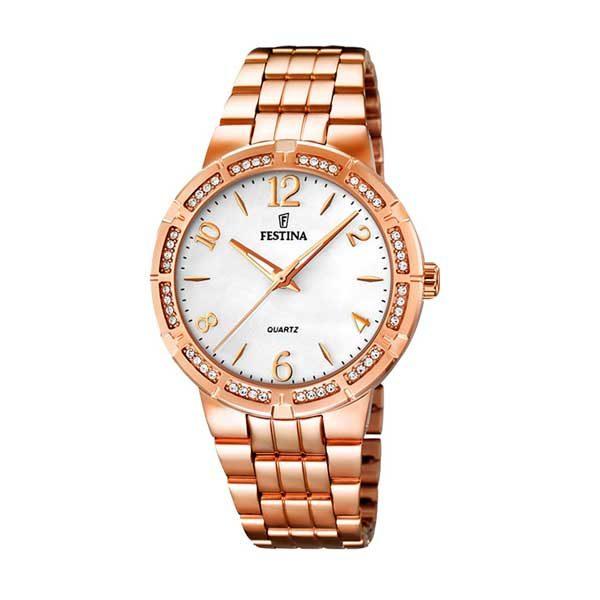Festina F16705/1 rosé horloge voor vrouwen - Officiële Festina dealer