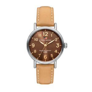 Horloge River Woods Vermillion RW340001 Naturel Brown Gold