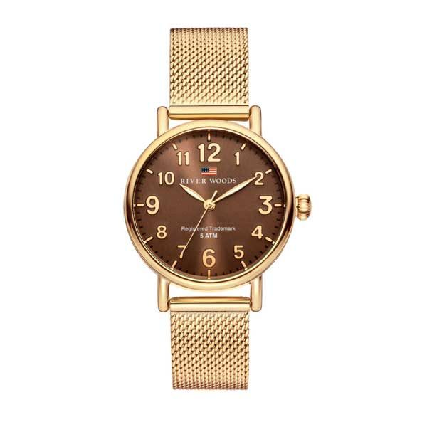 Horloge River Woods Vermillion RW340002 Gold milanese