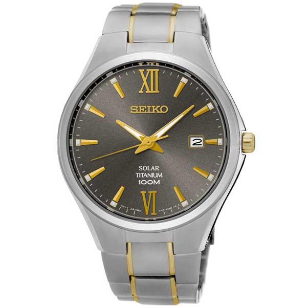 Seiko SNE409P1 titanium solar horloge - Officiële Seiko dealer - Topdealer