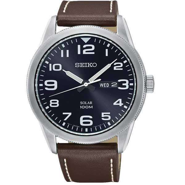Seiko SNE475P1 solar horloge - Officiële Seiko dealer - SNE475P1